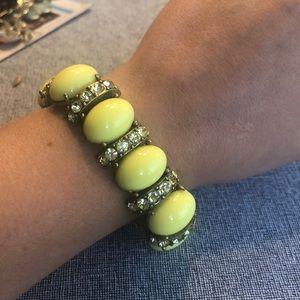 Yellow j crew chunky bracelet